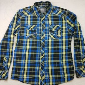 BKE Athletic Fit Snap Western Shirt Large